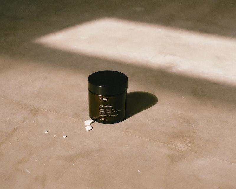 Klur Supreme Seed facial mask in jar.
