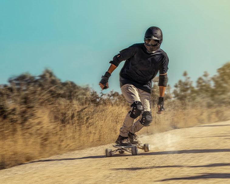 Hunter electric skateboard.
