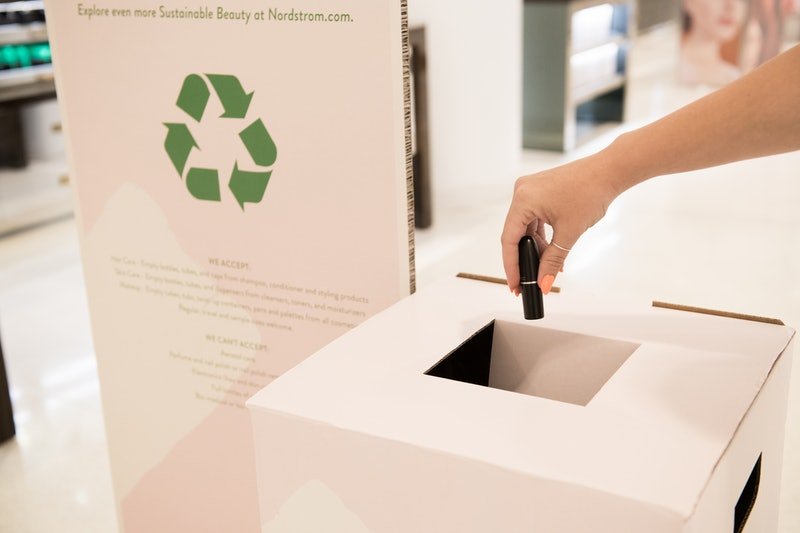 Nordstrom's new BEAUTYCYCLE program aims to save 100 tons of packaging from landfills by 2025