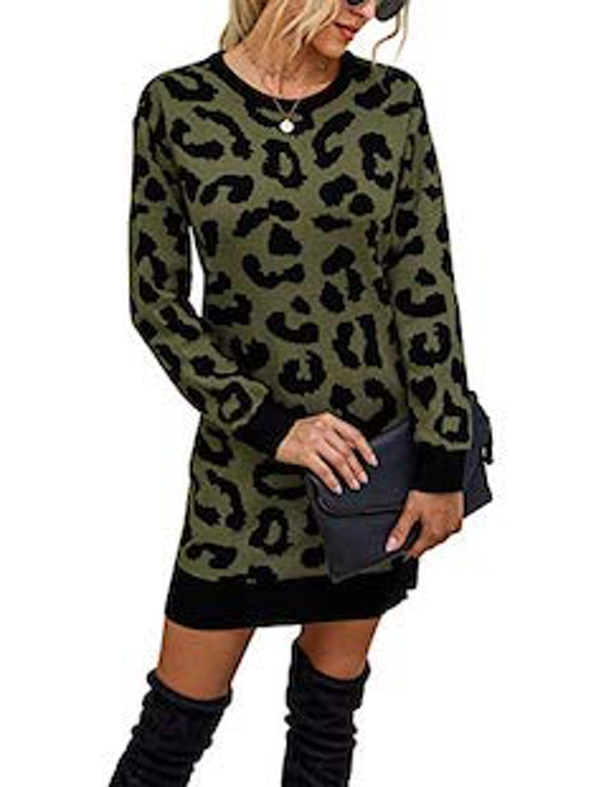 KIRUNDO Printed Sweater Dress