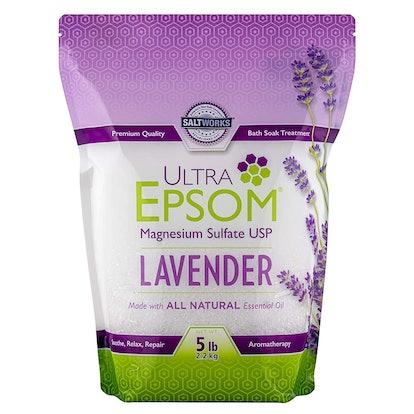 SaltWorks Ultra Epsom Lavender Scented Bath Salt
