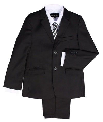 Boys Formal 5 Piece Suit With Shirt, Vest, and Tie