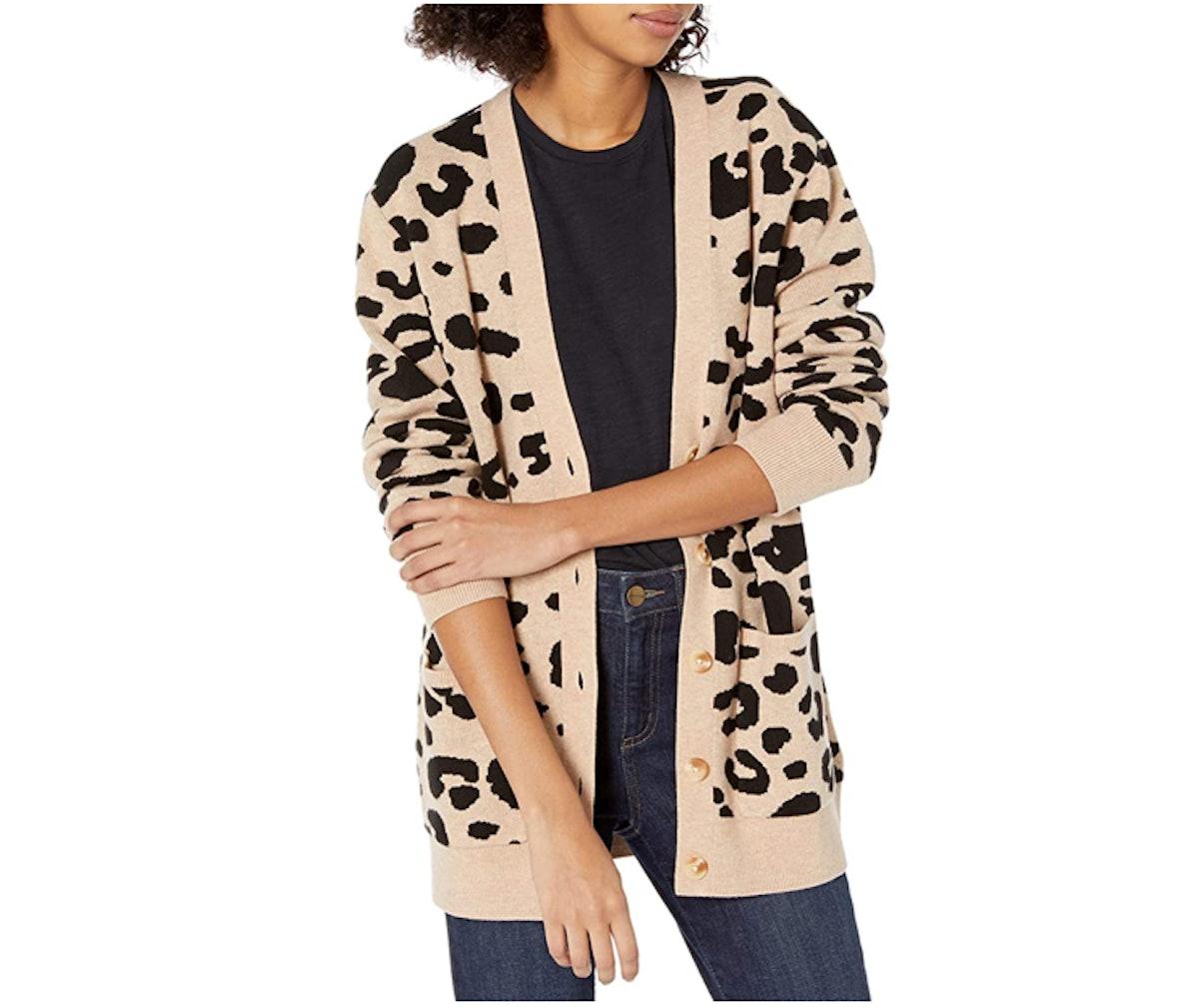 Daily Ritual Leopard Cardigan