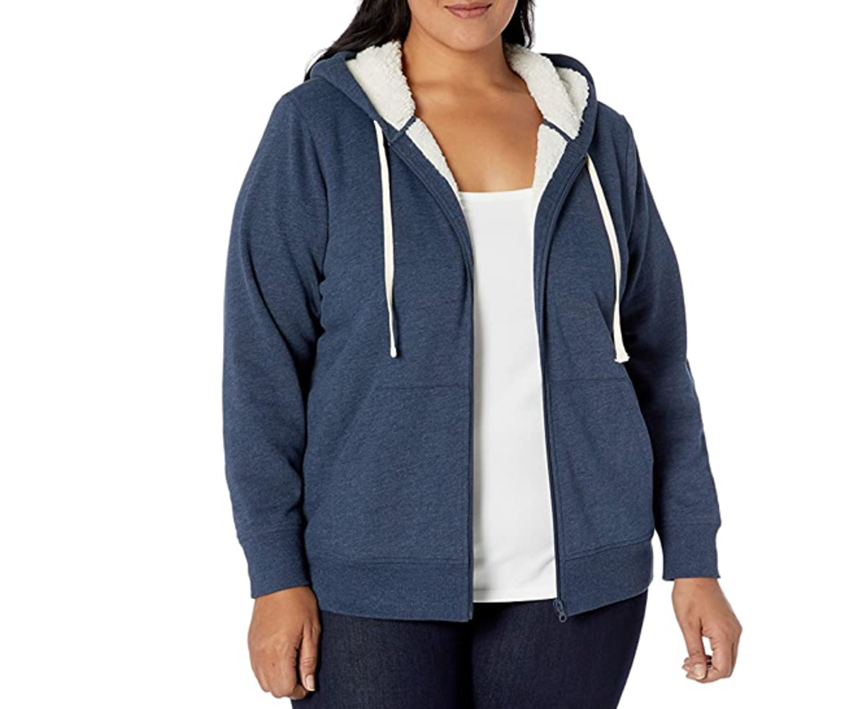 Amazon Essentials Plus-Size Sherpa-Lined Hoodie