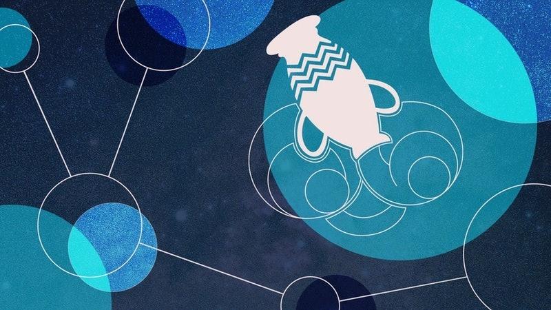 Aquarius zodiac sign illustration