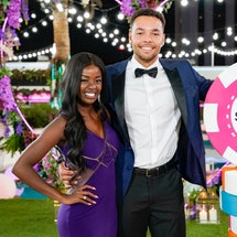 Love Island Season 2 Winners Caleb and Justine via CBS Press Site