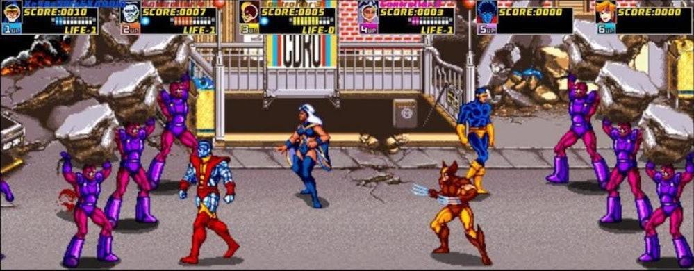 x men arcade game