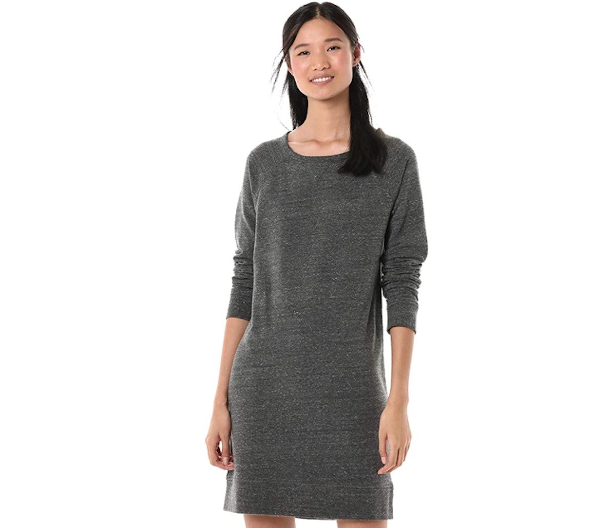 Goodthreads Modal Fleece Popover Sweatshirt Dress