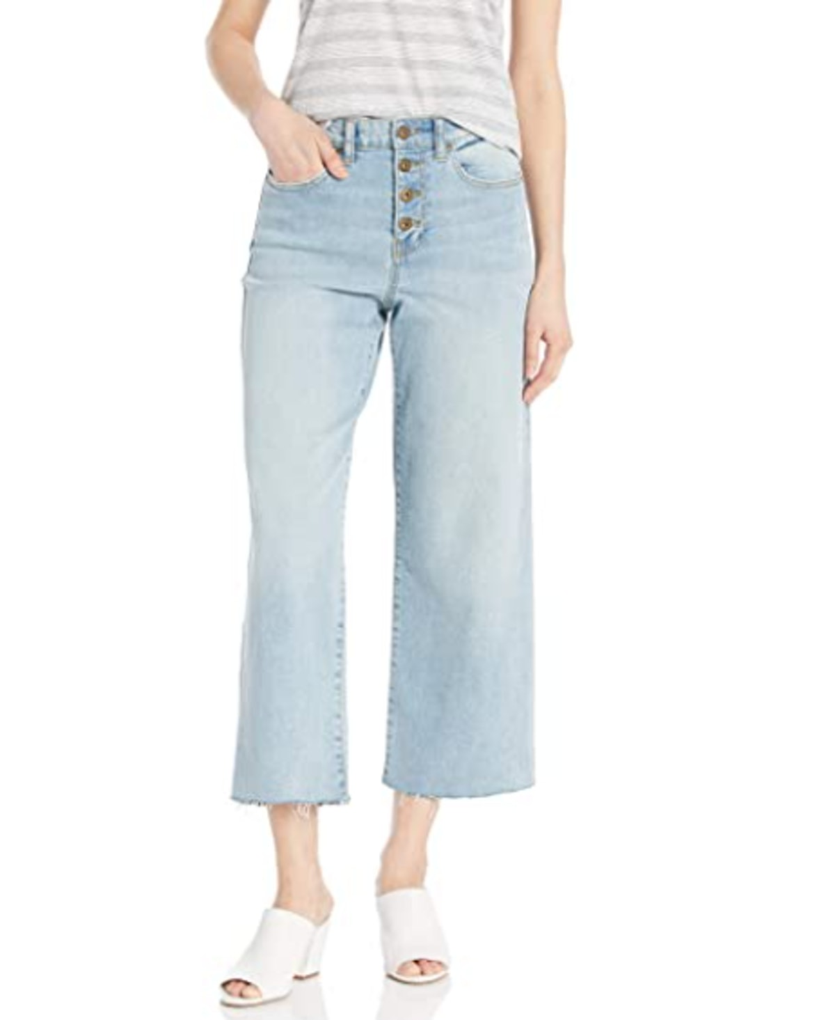 Daily Ritual Wide Leg Cropped Jeans