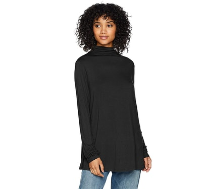 Daily Ritual Jersey Mock-Neck Swing Tunic