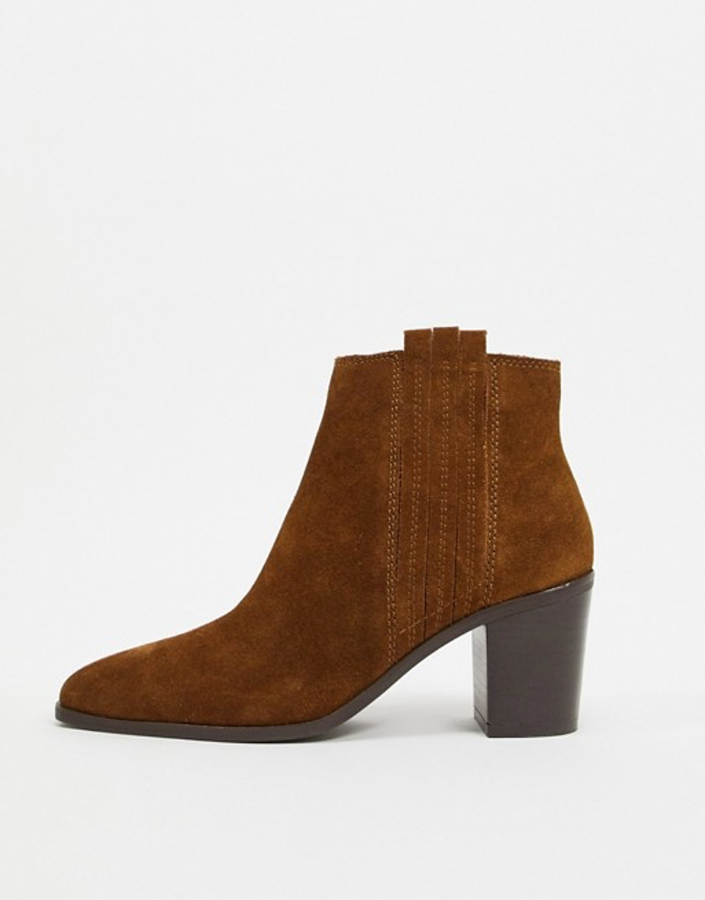 suede ankle boots in tan