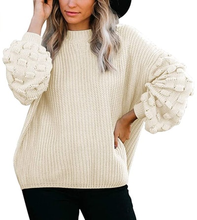 Sovoyontee Oversized Crewneck Sweater