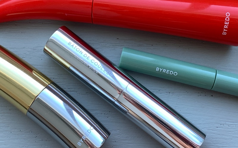 BYREDO Makeup Review: mascara, eyeliner, lipstick, and Colour Stick.