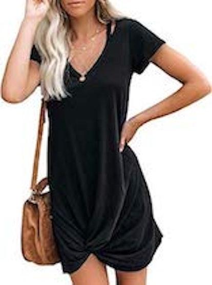Berryou Twist T-Shirt Dress
