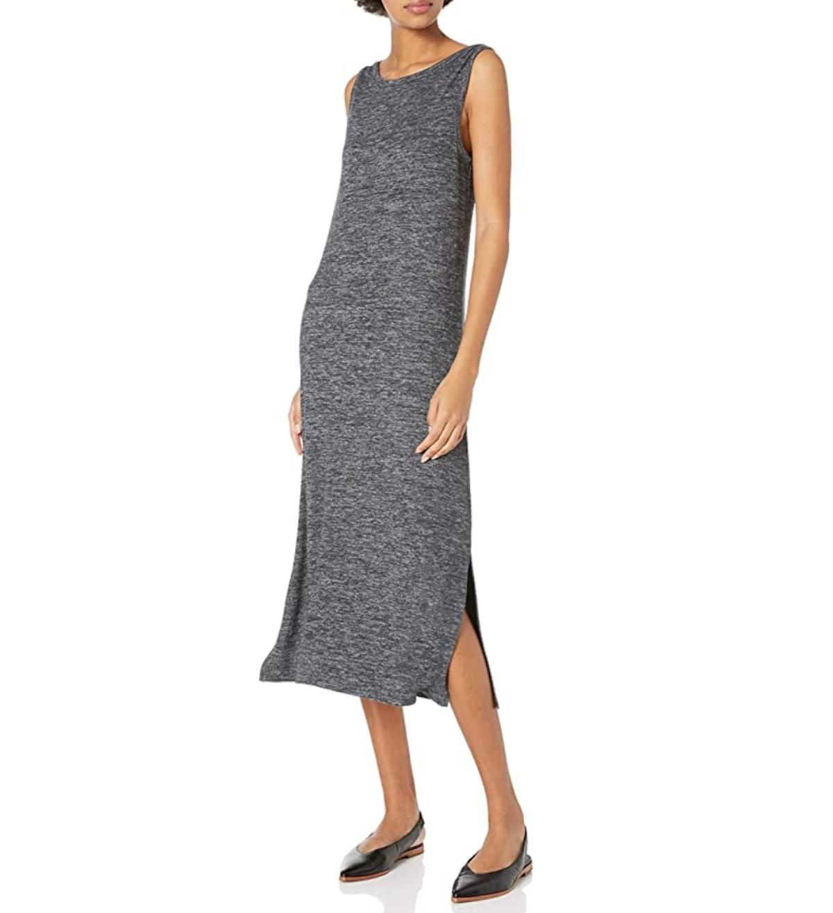 Daily Ritual Sleeveless Bateau Neck Midi Dress