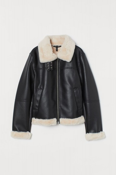 Faux Fur-Lined Jacket