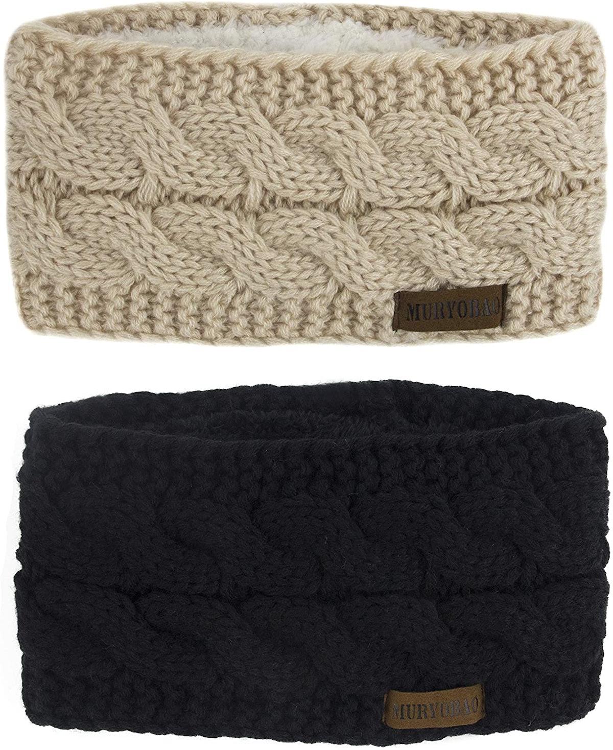 Muryobao Knitted Headbands (2-Pack)