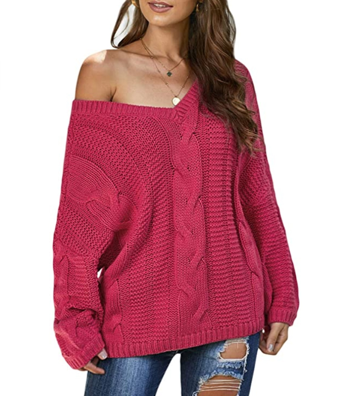 Ecrocoo Off-Shoulder Sweater