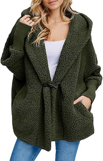 CHERFLY Fuzzy Fleece Jacket