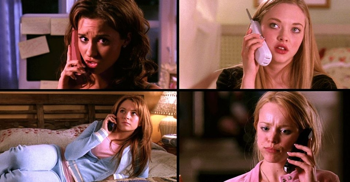 phone call scene from 'Mean Girls'