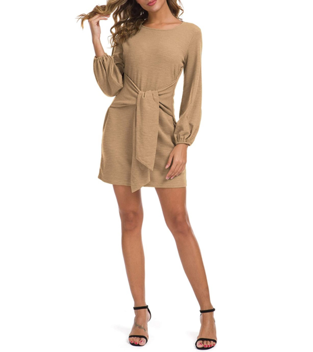 Lionstill Tie-Waist Sweater Dress