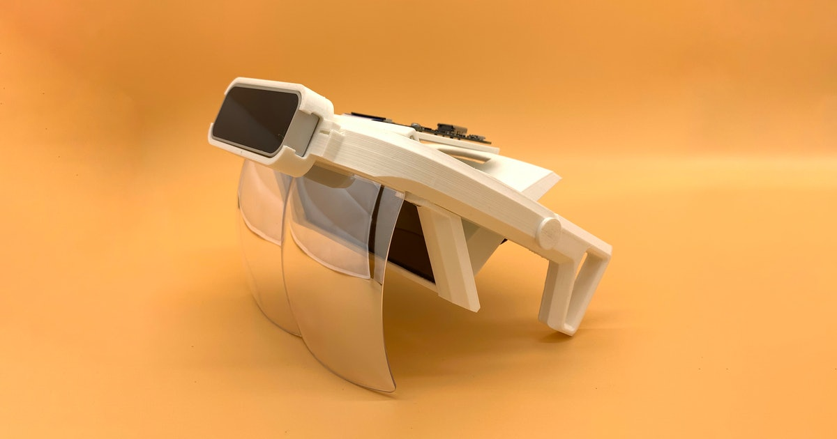 This guy made an AR headset using off-the-shelf components