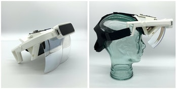 The Triton V1 is an AR headset built from off-the-shelf parts.