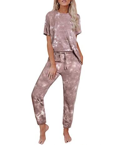 Zecilbo Tie-Dye Pajama Set