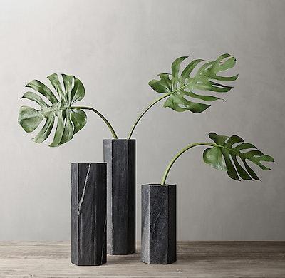 Hexagonal Marble Vase Collection