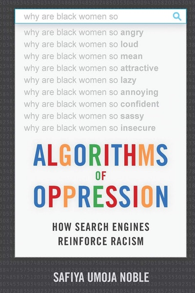Book distributor Sharmila recommends 'Algorithms of Oppression: How Search Engines Reinforce Racism' by Safiya Umoja Noble