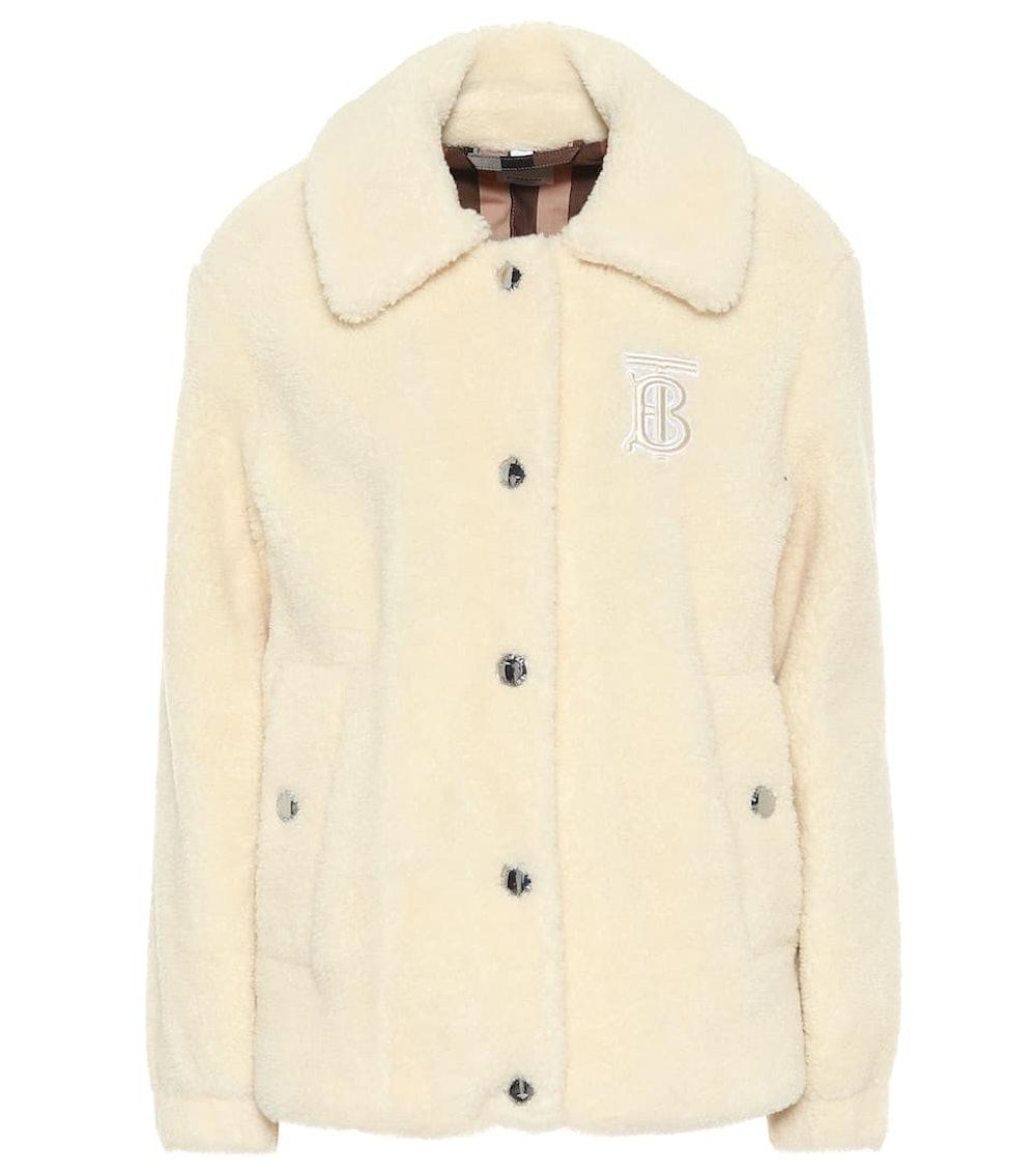 Wool-Blend Fleece Jacket