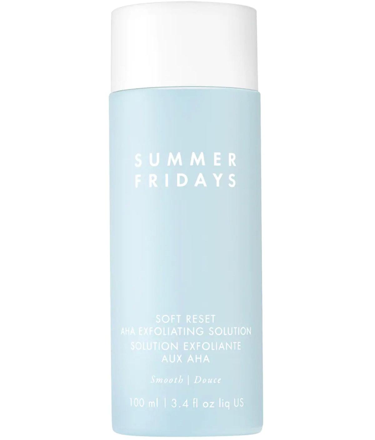 Summer Fridays Soft Reset AHA Exfoliating Solution