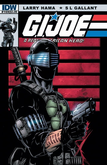 In 2008, IDW resumed ongoing G.I. Joe comics and again featured Larry Hama as both writer and variant cover artist.