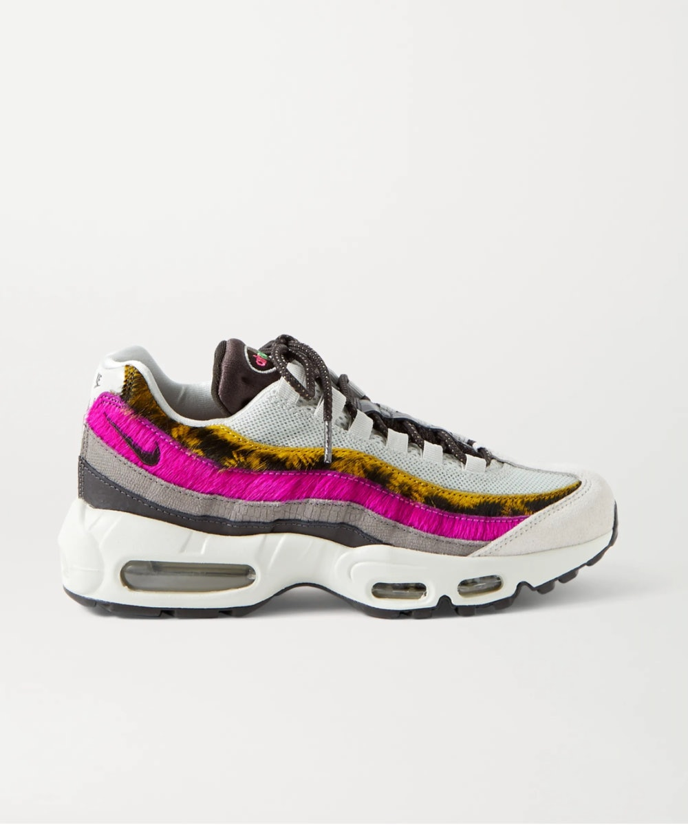 Air Max 95 Mesh, Suede, Calf hair and Leather Sneakers