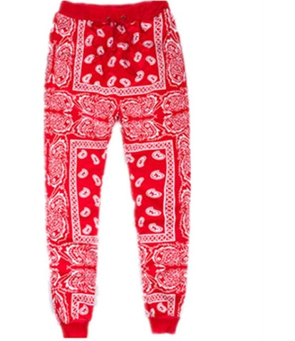 Unisex Fashion Man Skateboard Loose Hip Hop Swag Bandana Jogger Pants