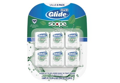 Oral-B Glide Dental Floss, Scope Flavor (6-Pack)