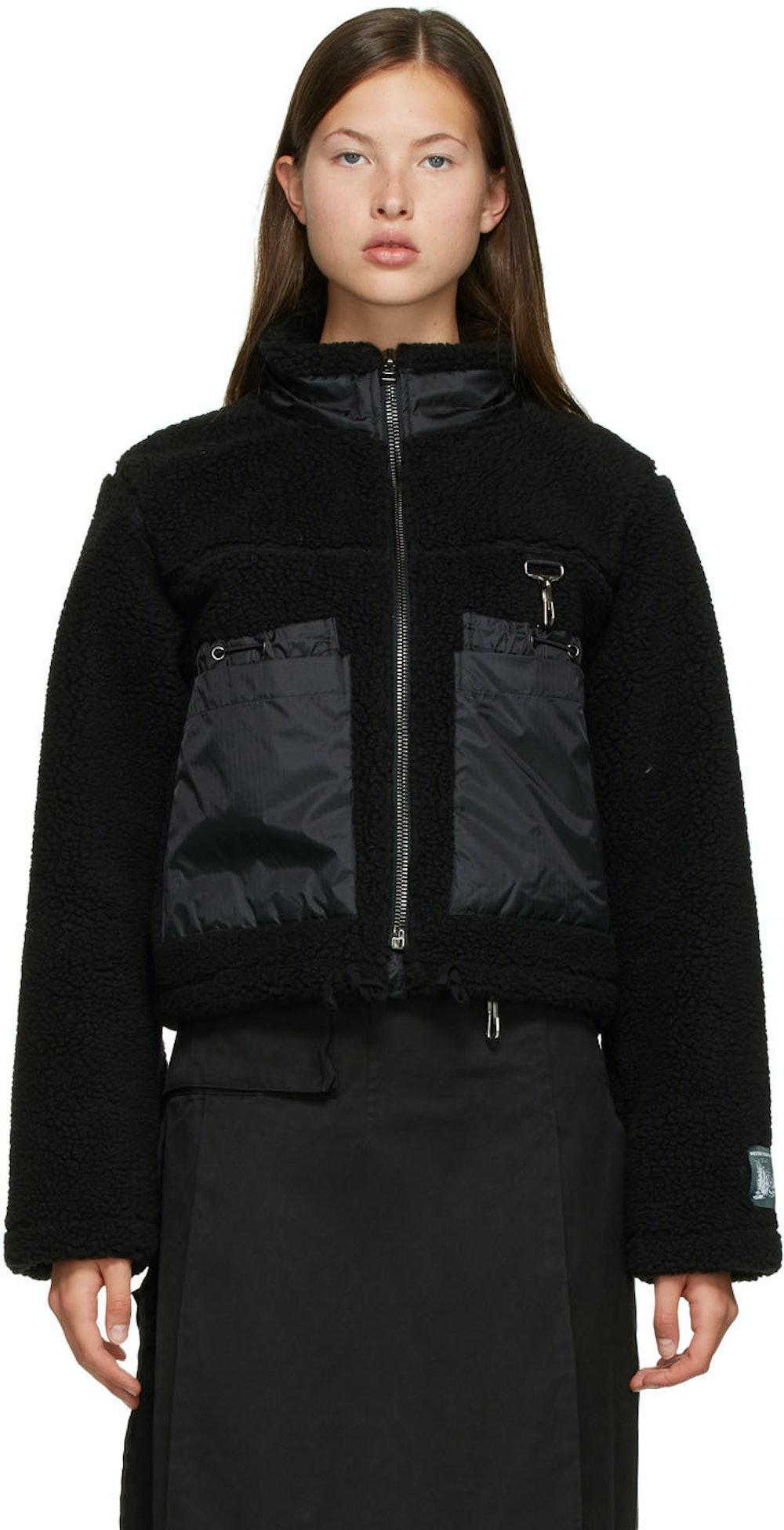 Black Sherpa Fleece Jacket