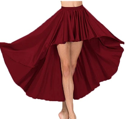 KAURVAKI HUB Satin High Low Skirt Asymmetrical Skirt for Womens Belly Dancing Skirt Special Casual Party wear Skirt S74