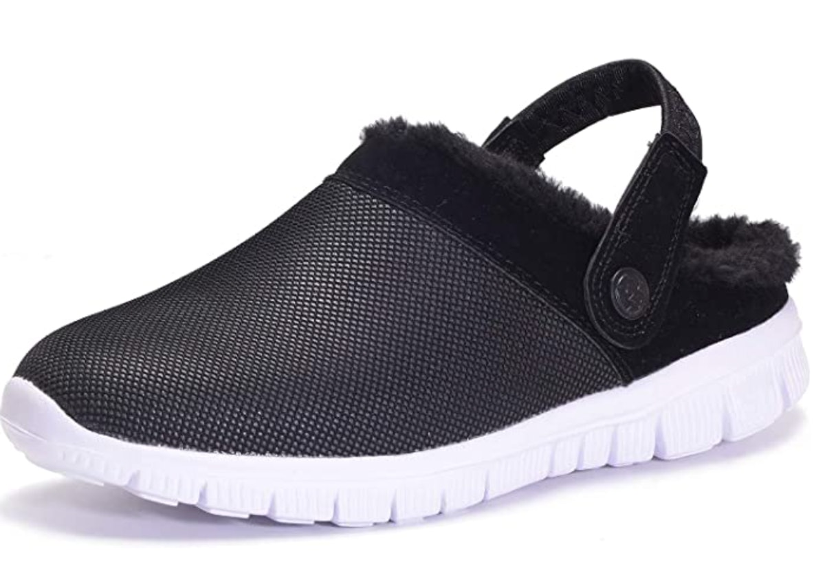 Hsyooes Lined Clogs Winter Slippers