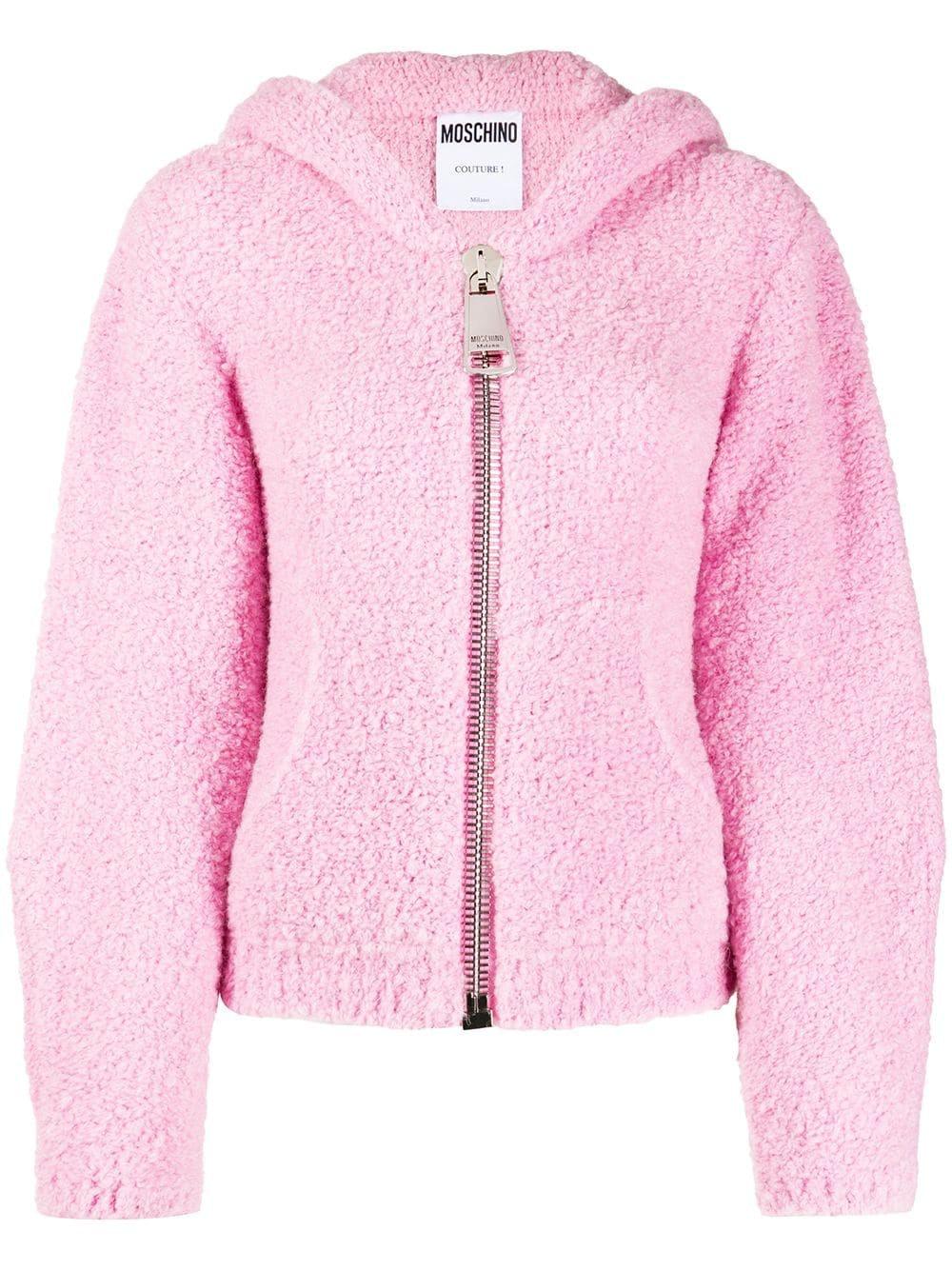 Fleece Style Hooded Jacket