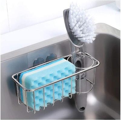 KESOL Adhesive Sponge Holder + Brush Holder