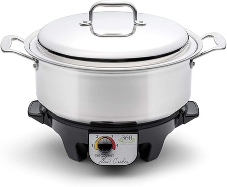 360 Stainless Steel Slow Cooker 6-Quart