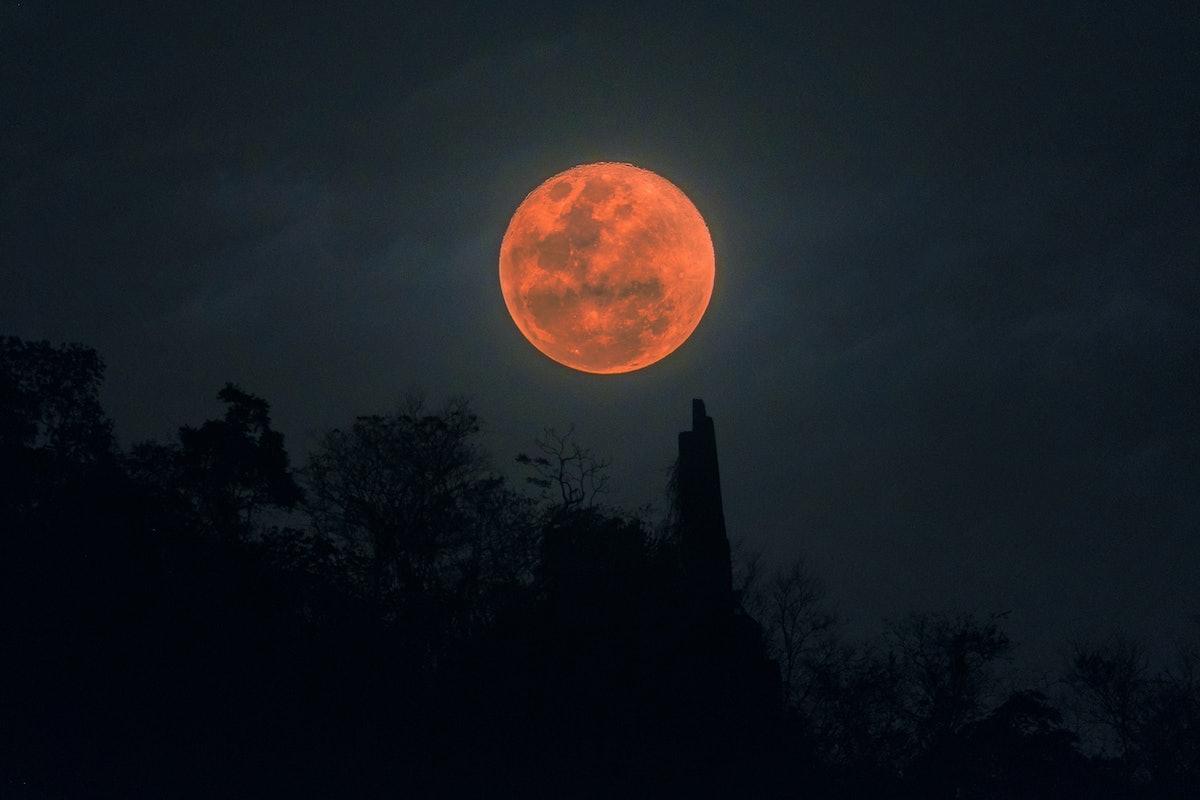 Full Blue Moon on Halloween