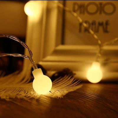 ZOUTOG Battery Operated String Lights, 33ft/10m 100 LED Bulb Warm White Globe String Lights