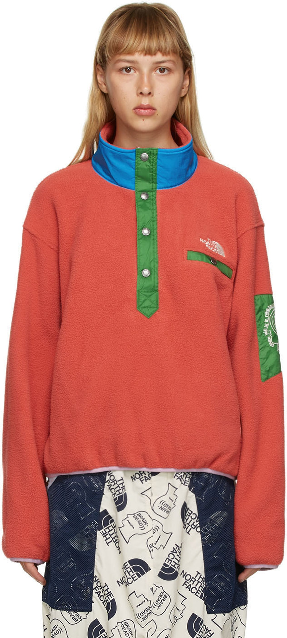 Red The North Face Edition Fleece Pullover Sweatshirt