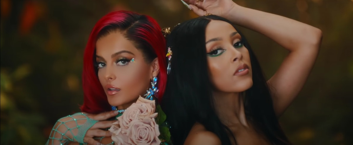 """Bebe Rexha and Doja Cat appear in the video for """"Baby, I'm Jealous."""""""