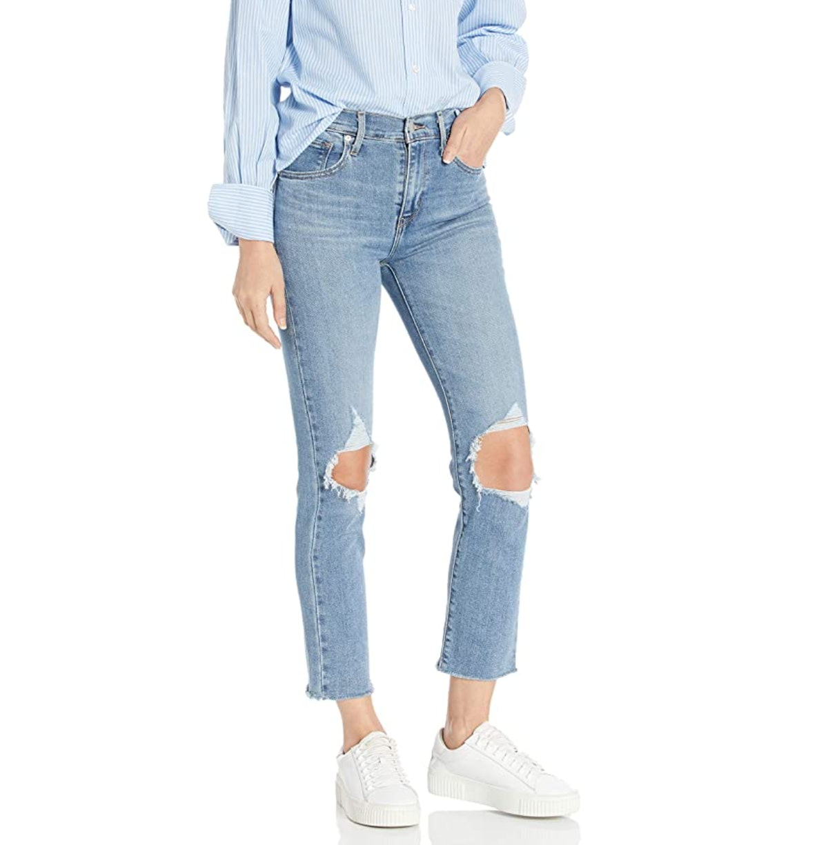 Levi's Women's 724 High Rise Straight Crop Jeans