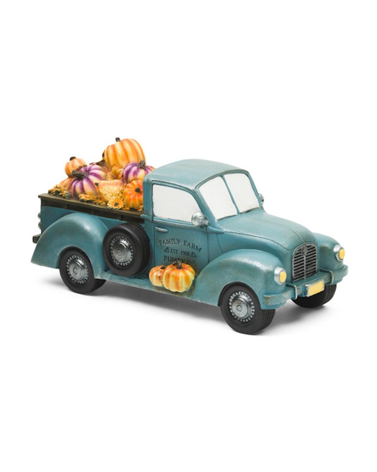 Harvest Moon - 16in Truck With Pumpkins