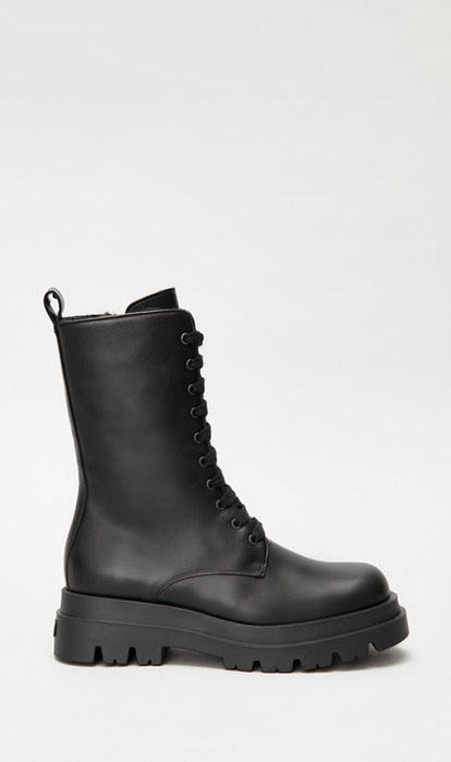 WARRIOR shearling-lined combat boot