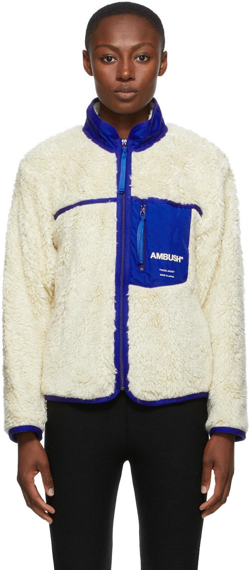 Off-White Fleece Zip-Up Jacket